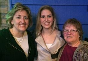 Chris Kilcoin, her daughter Sydney, and mother-in-law Kathleen Kilcoin were able to make Cursillo the same weekend this spring, which is thought to be the first time three generations did this together in the Diocese of Peoria. (Provided photo)