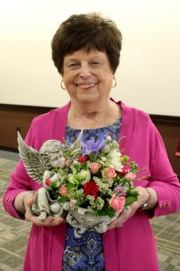 Longtime member Joan Manning received the 2016 Angel Award. (The Catholic Post/Jennifer Willems)