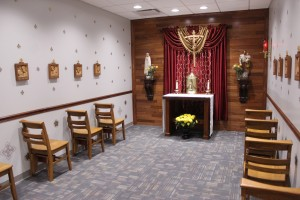 Sister Maria Christi, OP, called the new chapel the heart of St. Jude School and said it allows students, teachers and parents to stop by for prayer during the day. (The Catholic Post/Tom Dermody)