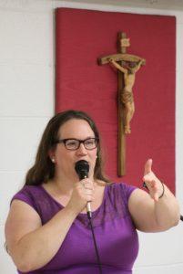 Among the conference organizers was Bonnie Engstrom of St. Patrick Parish, Washington. (The Catholic Post/Jennifer Willems)