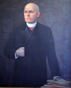 This portrait of Bishop Spalding is dated 1907, a year before he resigned as Bishop of Peoria.