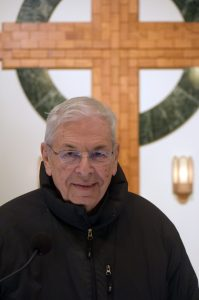 In addition to guiding St. Paul Parish and overseeing the parish school, Msgr. Pricco -- shown in the church sanctuary -- is a community and diocesan leader. (The Catholic Post/Tom Dermody)