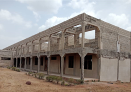 The Archbishop Fulton Sheen Catholic Academy in Ghana is in need of a roof to cover second story classrooms. (Provided photo)