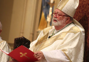 Bishop Daniel R. Jenky, CSC, gives the homily at the 2016 Respect Life Mass at St. Mary's Cathedral in Peoria. The public is invited to this year's Mass at 10:30 a.m. on Friday, Sept. 22, at the cathedral. (The Catholic Post file photo/Jennifer Willems)