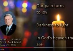 A screen capture from The Catholic Post's 2018 All Souls Day memorial video. We once again invite readers to submit photos of recently deceased loved ones for inclusion in our 2021 tribute.